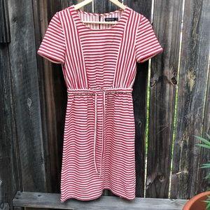 Mikarose Amelia Striped Cotton Midi Dress - XS